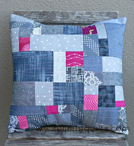Scrappy Grey Pillow
