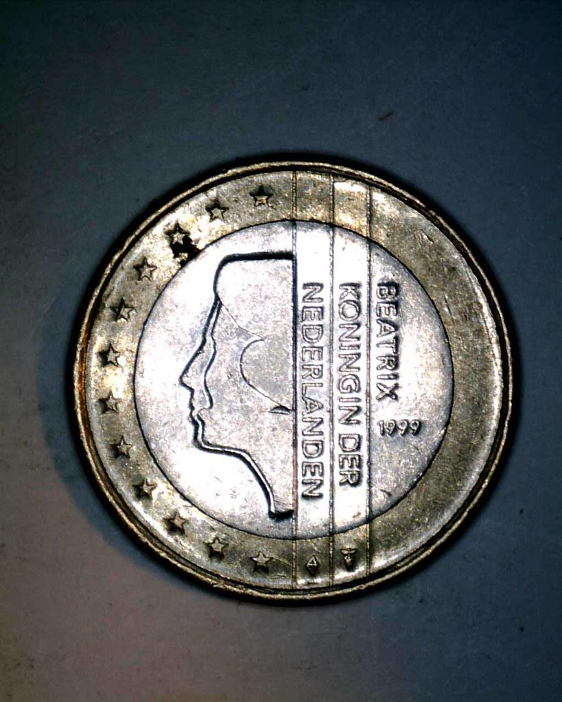 Netherland 1 euro coin 1999