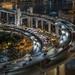 Nightscape of Shanghai traffic at night