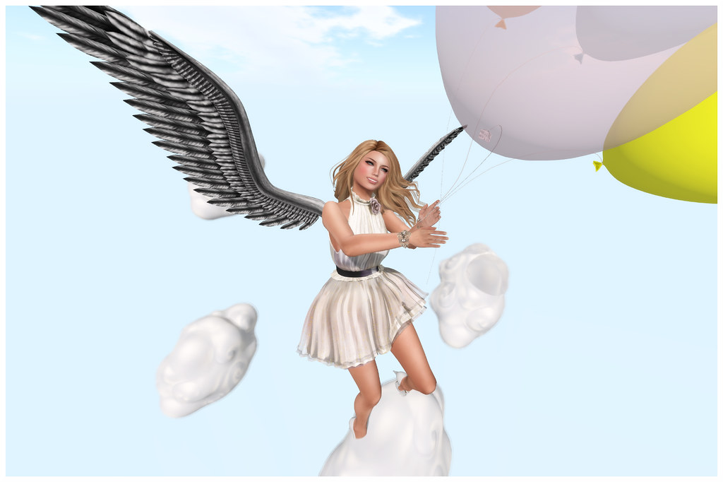 Angel with Balloons