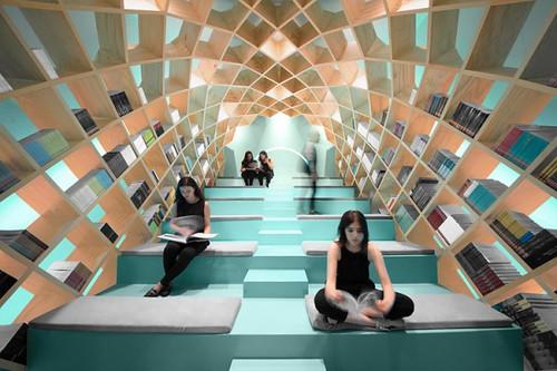 La Biblioteca de Conarte : un revolucionario concepto de diseño ...