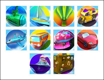 free Vacation Station Deluxe slot game symbols