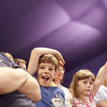 Enjoying Julian Clary & David Roberts | Audience enjoying Julian Clary & David Roberts at the Book Festival © Helen Jones