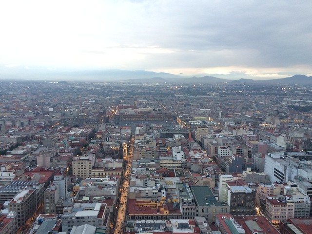 View of Mexico City looing from downtown toward the East