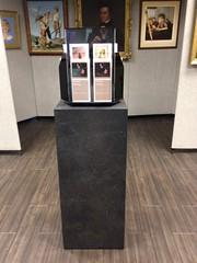 Black Alicante Pedestal in Gallery