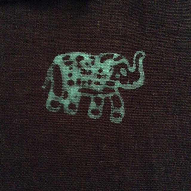 Indian wood block #printmaking #sewing #seamwork #elephantsareawesome