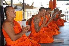 spiritual retreat with monks at Wat Thung Khru
