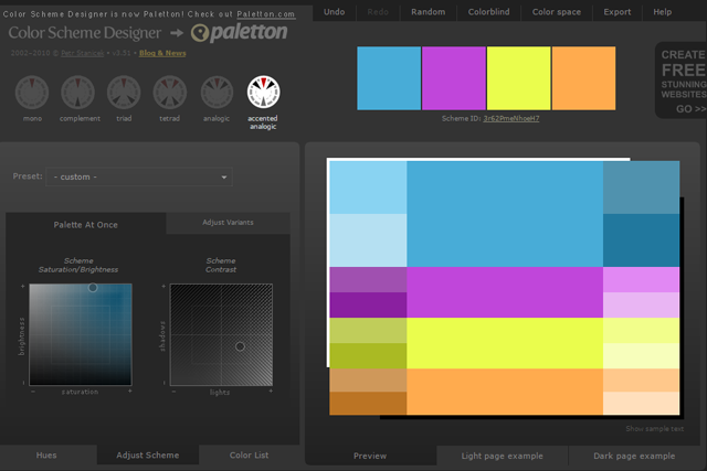Color Scheme Design Ou Paletton Part 96