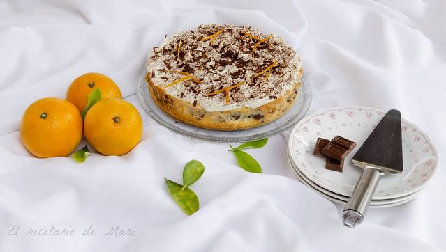 Tarta marmolada chocolate y naranja