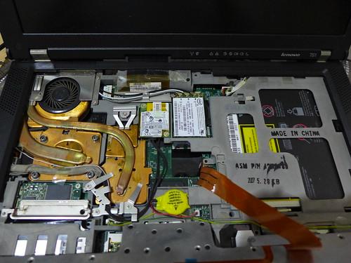 鍵盤拆開的的機體全貌