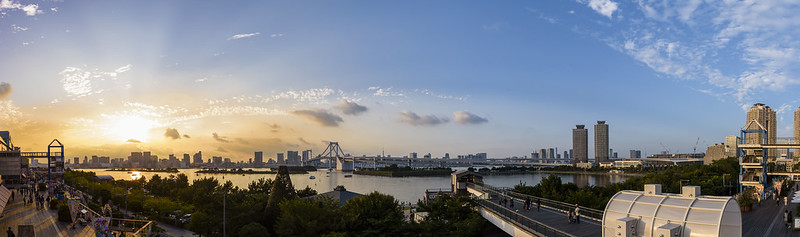 Sunset View of Tokyo bay area