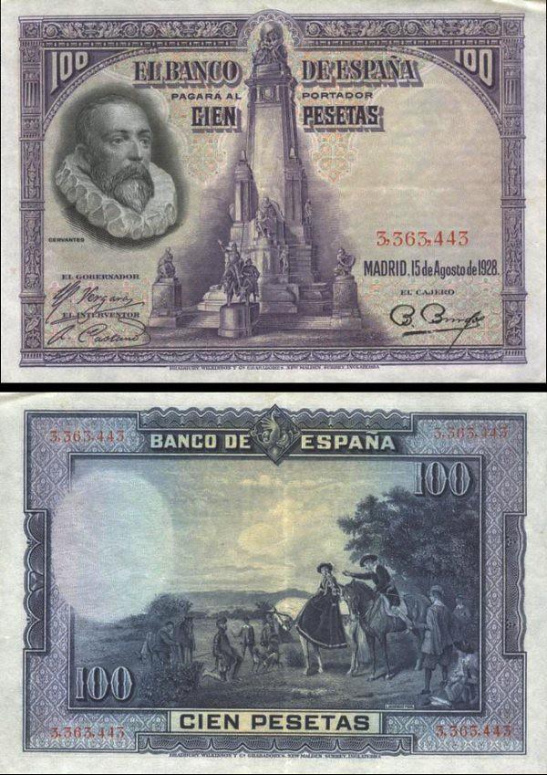 100 Pesetas Španielsko 1928 P76