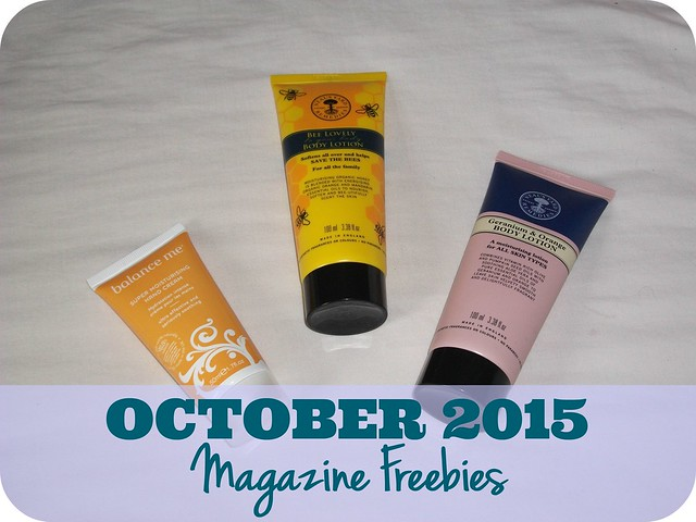 October 2015 Magazine Freebies UK