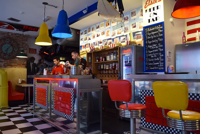 Bar at Elsie Mo's Diner, Canterbury | www.rachelphipps.com @rachelphipps