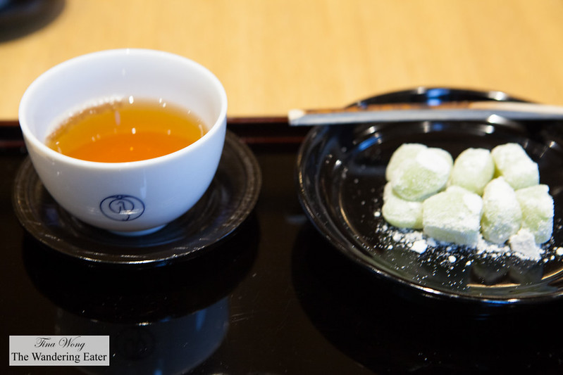 Our cup of tea with the yuzu mochi
