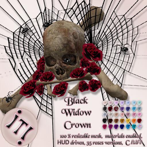 !IT! - Black Widow Crown Image