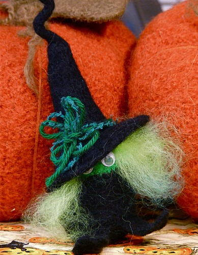 Halloween Witch and five goblins based on Marie Mayhew Mathilda Witch Pattern