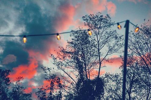 sunset sun clouds