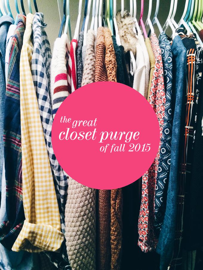 fall closet purge 2015