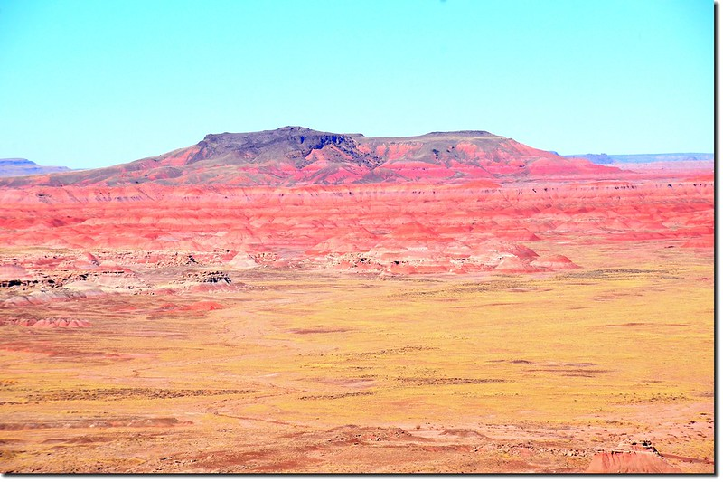 Pilot Rock from Pintado Point, Petrified Forest National Park