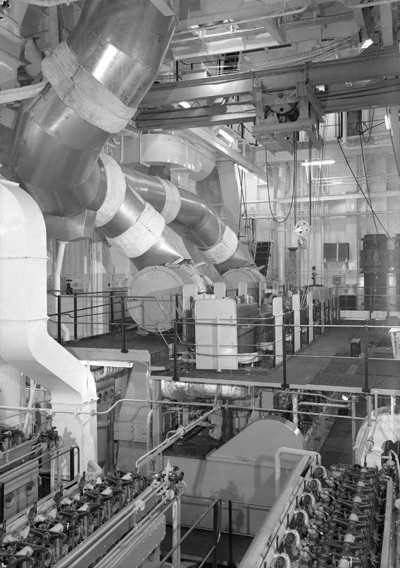Engine room of the bulk carrier 'Fernspring'
