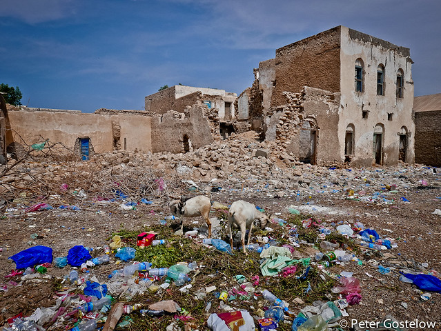 Colourful rubbish in Berbera