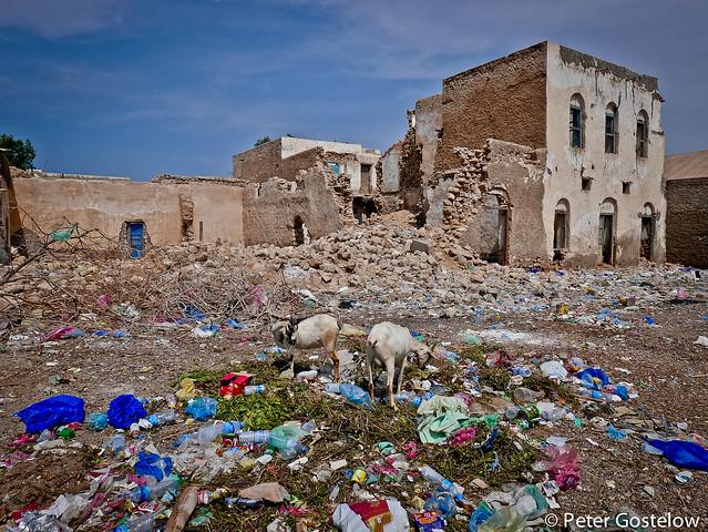 Colourful rubbish in Berbera