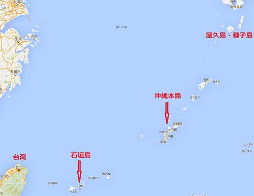 石垣島、地図広域