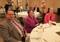 Steve Wood with his wife Christine and their guest.