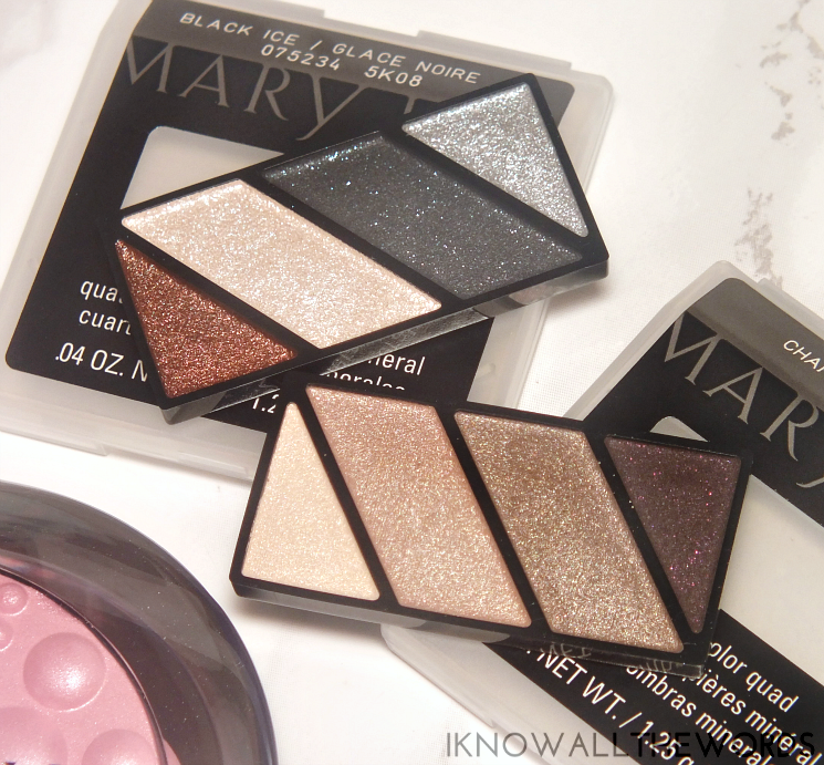 Mary Kay Holiday 2015 Mineral Eye Colour Quad Chai Latte and Black Ice