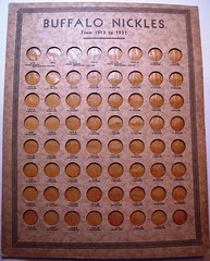 Buffalo NIckel coin board