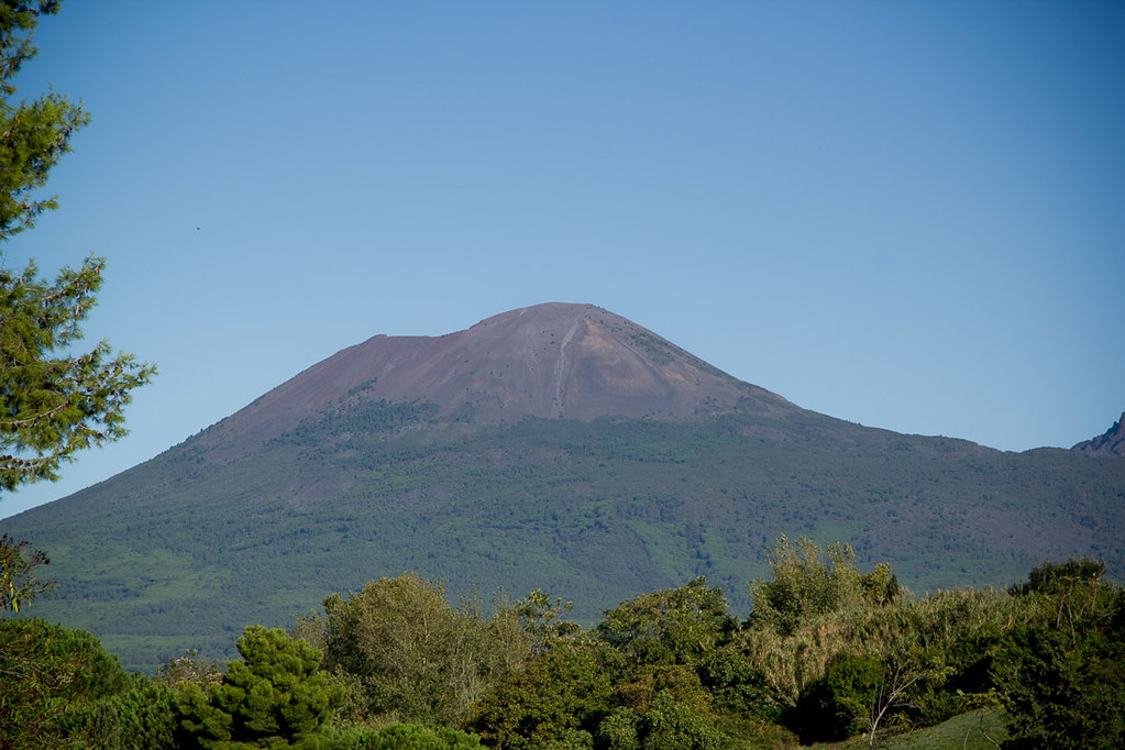 Mt. Vesuvius in Naples, Italy