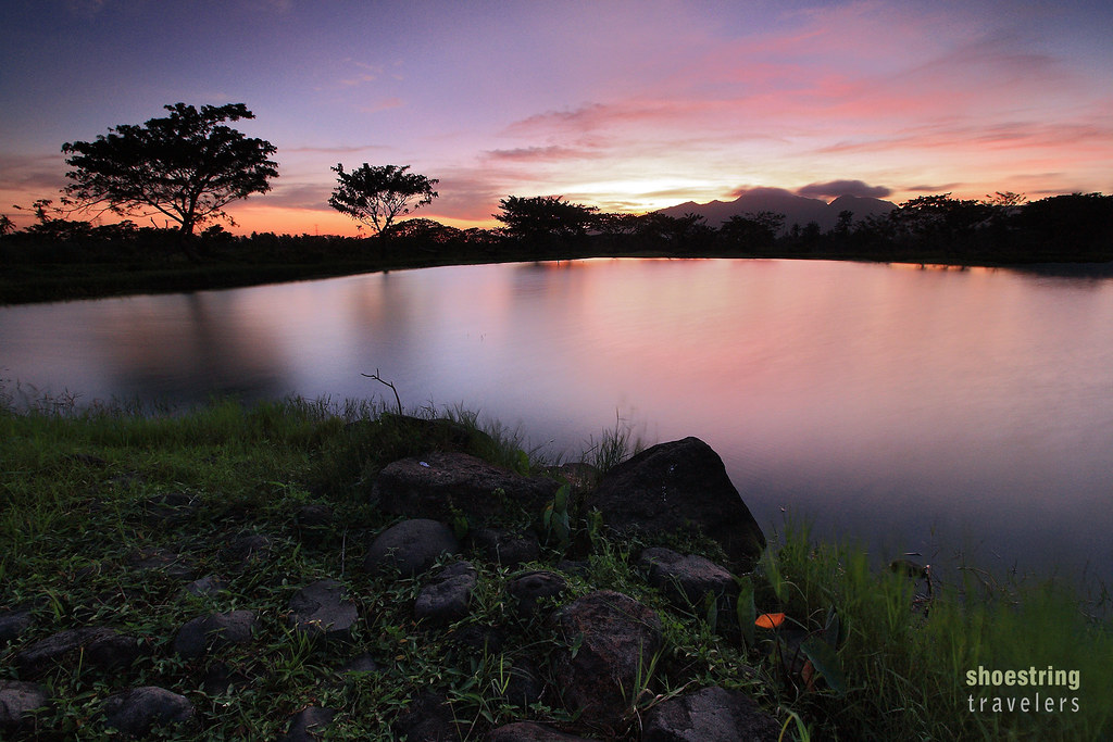 sunset scene at Hacienda Escudero, Tiaong, Quezon