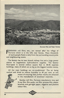 Ferrania film advert 1952