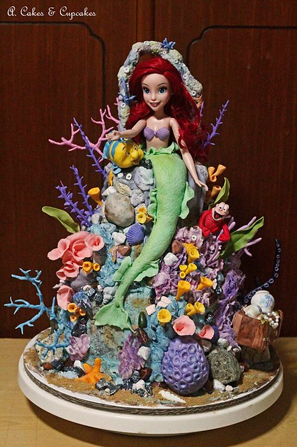 Ariel under the sea with friends by Alfred Fernandez Nimo
