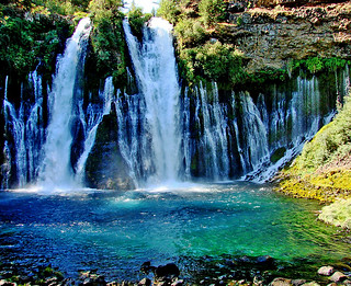 Water out of Rock, Burney Falls, CA 9-06