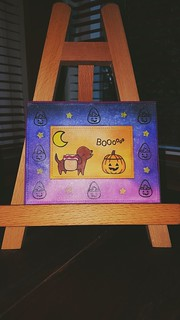 Love Lawn Fawn's Happy Howloween stamp set! My entry for the Lawnscaping Challenge #140
