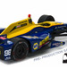 10767 - 1-64 2016 Indy500 Winner - #98 Alexander Rossi - Andretti, Curb Agajanian, NAPA (Back,High Res) by GreenLight Collectibles