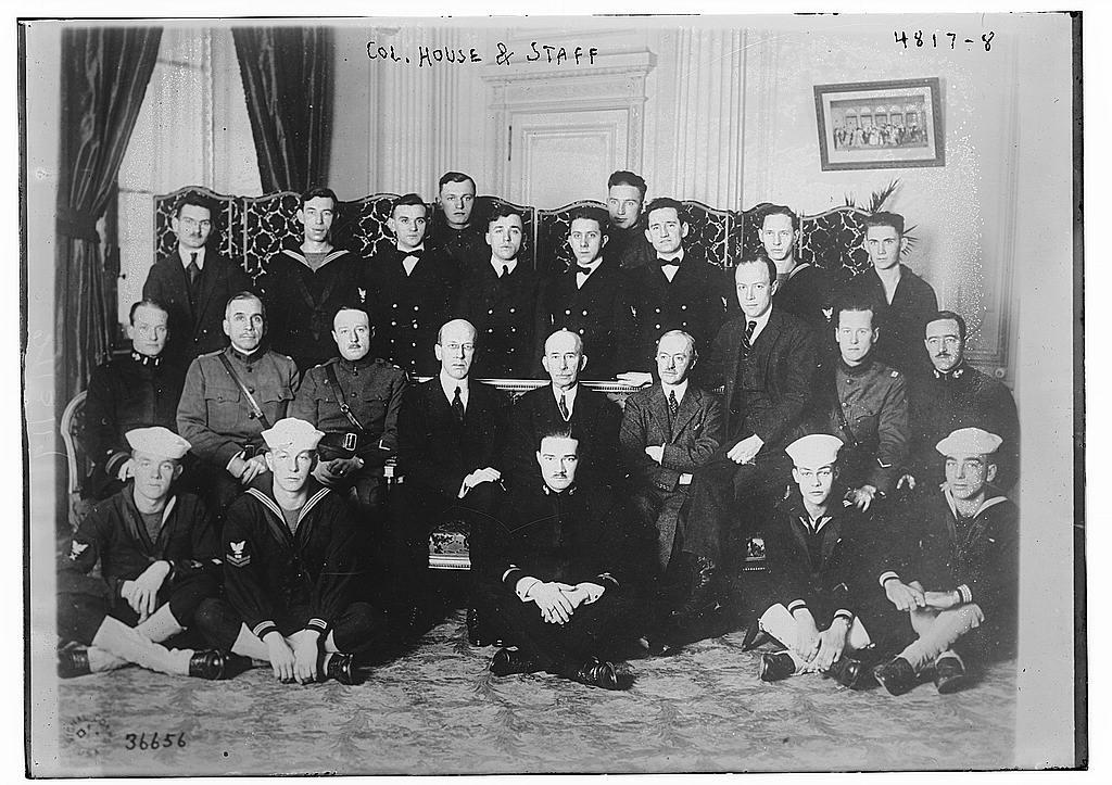 Col. House & staff (LOC)
