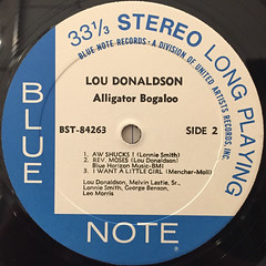 LOU DONALDSON:ALLIGATOR BOGALOO(LABEL SIDE-B)