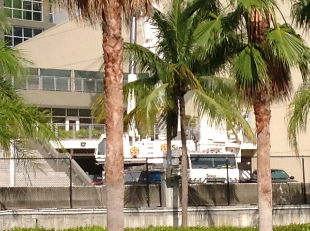AA Arena Miami Heat Tadano ATF 400G Sims Crane Rental Service (3)