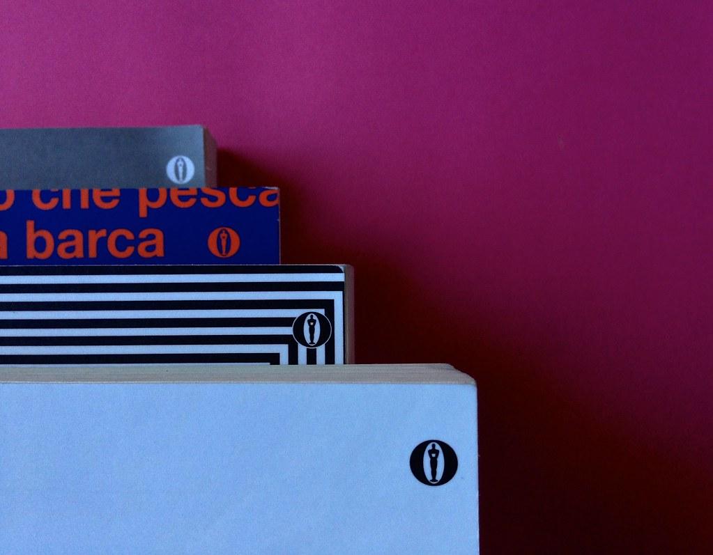 Oscar Mondadori / ied: edizione speciale di 10 titoli per i 50 anni degli Oscar. Art direction: Giacomo Callo. Copertine di 4 titoli (part.) 3