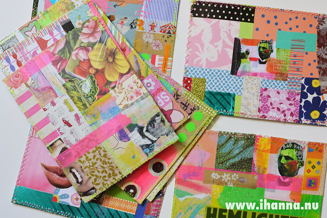Spring DIY Postcard Swap pile by iHanna