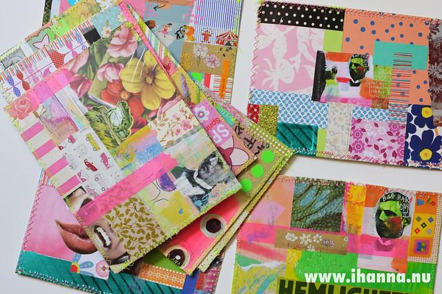 Spring DIY Postcard Swap pile by iHanna