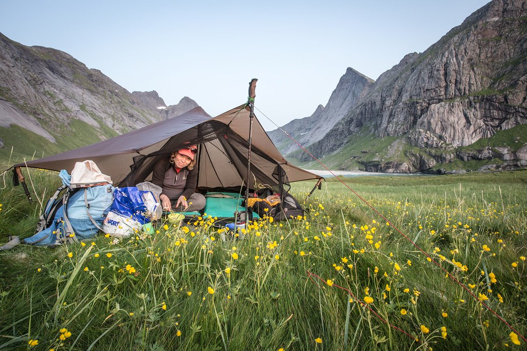 Ready for a night under the stars. Euhm, we mean... arctic sun. Lofoten archipelago. Norway. #midnightsun #68degreesnorth #6monthspregnantinpicture