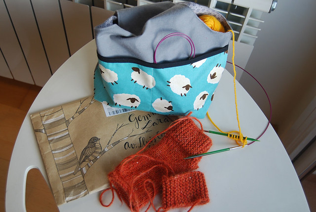 diy sew knitting bag