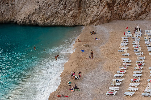 Beach life along the Turkish Riviera.