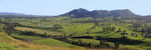 Avon Valley and 'The Bucketts' from Kia Ora near Gloucester
