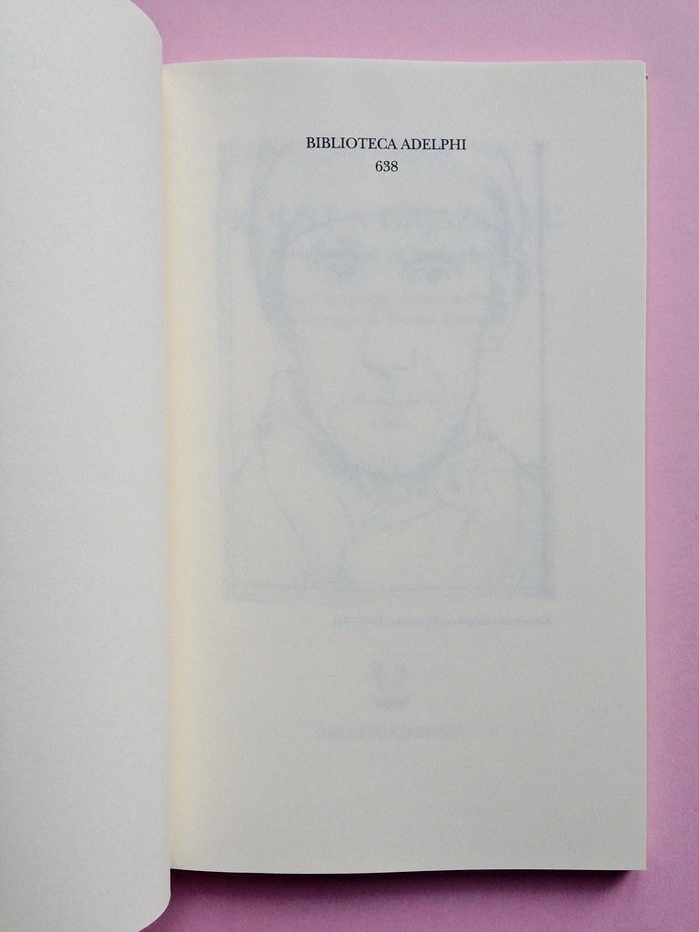 Proust a Grjazovec, di Józef Czapski. Adelphi 2015. Resp. grafica non indicata. Pagina dell'occhiello, a pag. 3 (part.), 1