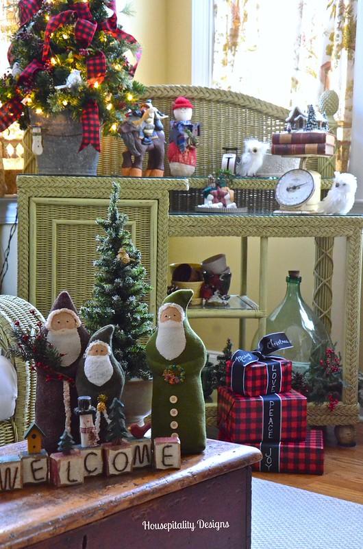 Felted Wool Santas - Housepitality Designs
